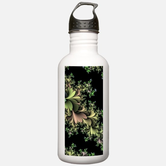 Kale Leaves Fractal Water Bottle