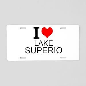 I Love Lake Superior Aluminum License Plate