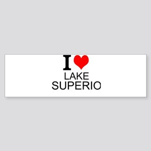 I Love Lake Superior Bumper Sticker