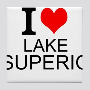 I Love Lake Superior Tile Coaster