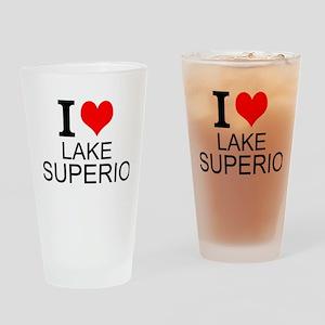 I Love Lake Superior Drinking Glass
