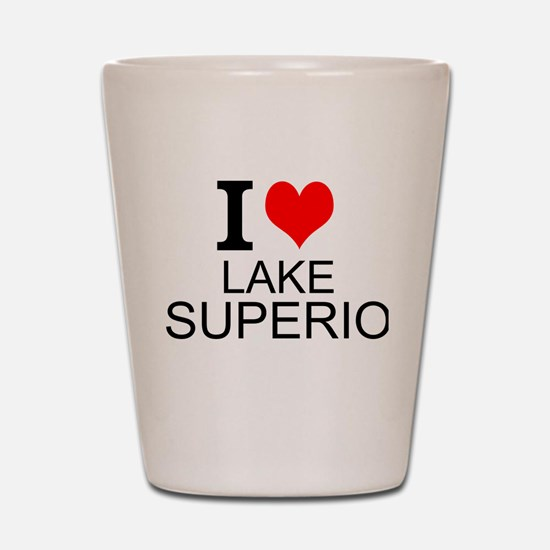 I Love Lake Superior Shot Glass