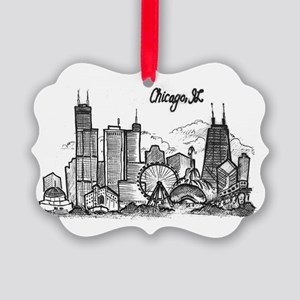 landmarks clean Picture Ornament