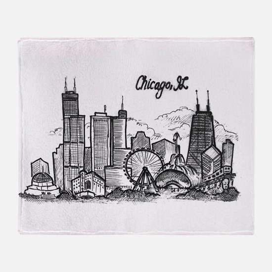 landmarks clean Throw Blanket
