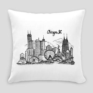 landmarks clean Everyday Pillow