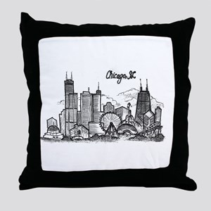 landmarks clean Throw Pillow