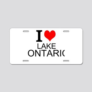 I Love Lake Ontario Aluminum License Plate