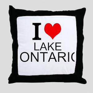I Love Lake Ontario Throw Pillow