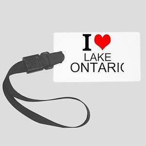 I Love Lake Ontario Luggage Tag