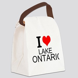 I Love Lake Ontario Canvas Lunch Bag