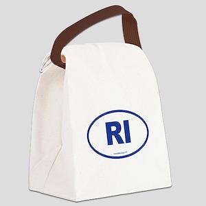 Rhode Island RI Euro Oval Canvas Lunch Bag