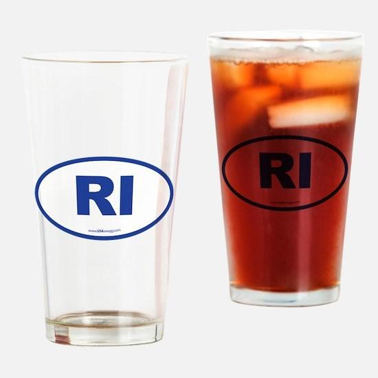 Rhode Island RI Euro Oval Drinking Glass