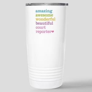 Amazing Court Reporter Stainless Steel Travel Mug