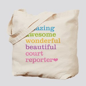Amazing Court Reporter Tote Bag