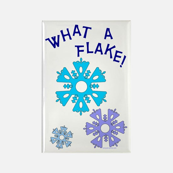 What A Flake Rectangle Magnet