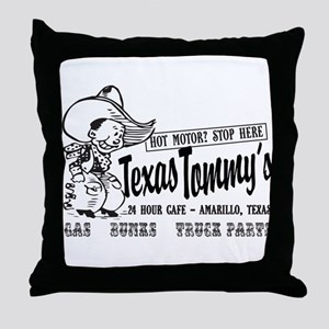 Texas Tommy's Truck Stop, Amarillo, T Throw Pillow