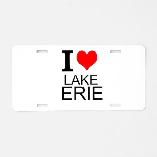 I Love Lake Erie Aluminum License Plate