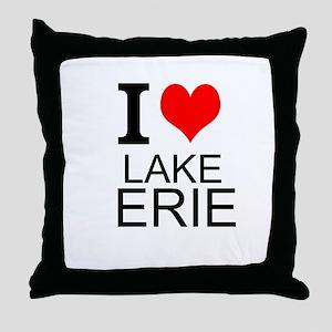 I Love Lake Erie Throw Pillow
