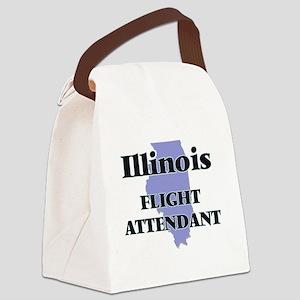 Illinois Flight Attendant Canvas Lunch Bag