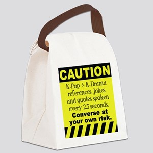 Caution K spoken here Canvas Lunch Bag