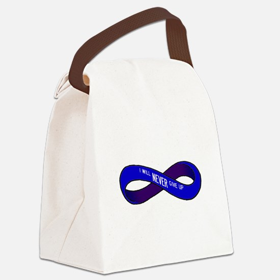 RD NEVER give up! Canvas Lunch Bag