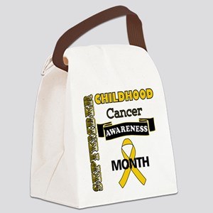 Childhood Cancer Awareness Canvas Lunch Bag