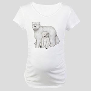 Polar Bear Mother & Cub Maternity T-Shirt