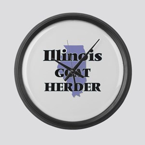 Illinois Goat Herder Large Wall Clock