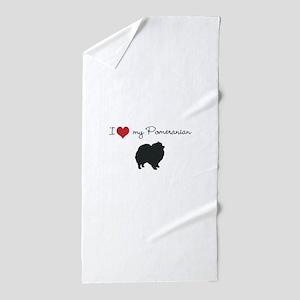 I love my Pomeranian Beach Towel