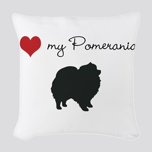 I love my Pomeranian Woven Throw Pillow