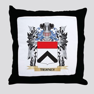 Tierney Coat of Arms - Family Crest Throw Pillow