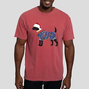 Black Lab Ugly Christmas Sweater T-Shirt
