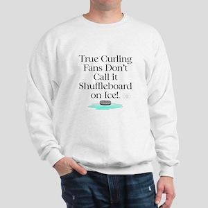 Curling Slogan Sweatshirt