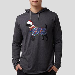 Black Lab Ugly Christmas Sweater Long Sleeve T-Shi