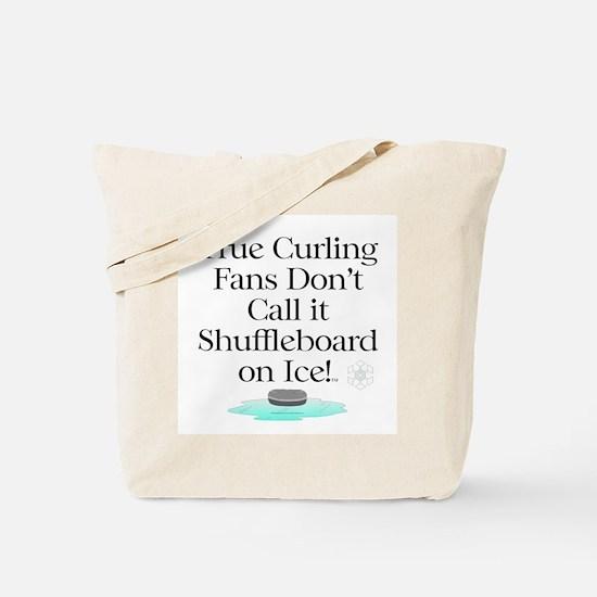 Curling Slogan Tote Bag