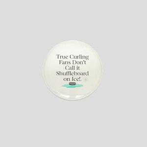 Curling Slogan Mini Button