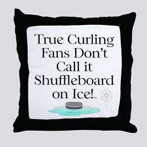 Curling Slogan Throw Pillow
