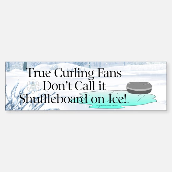 Curling Slogan Sticker (Bumper)