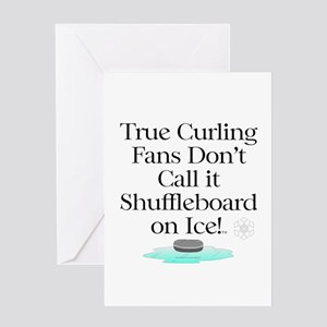 Curling Slogan Greeting Card