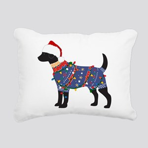 Black Lab Ugly Christmas Sweater Rectangular Canva