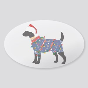 Black Lab Ugly Christmas Sweater Sticker