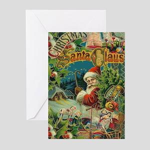 Christmas Santa Claus Antique Vintage Victorian Gr