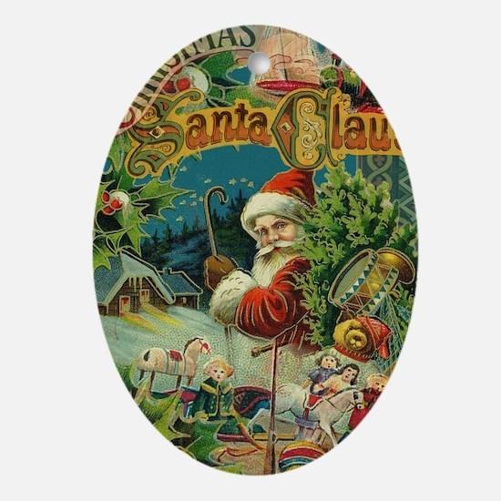 Christmas Santa Claus Antique Vintage Victorian Ov