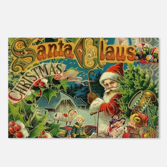 Christmas Santa Claus Antique Vintage Victorian Po