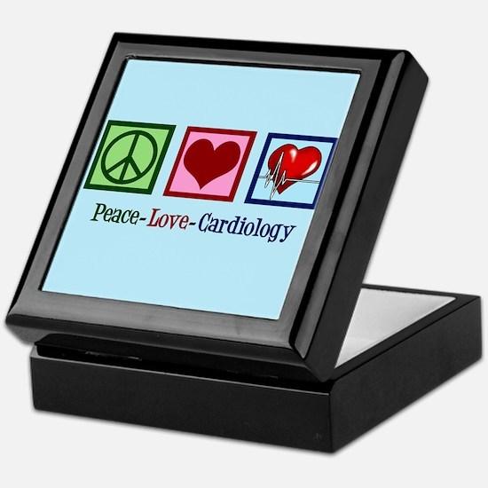 Peace Love Cardiology Keepsake Box