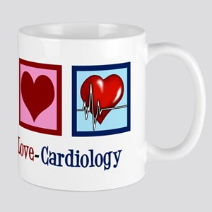 Peace Love Cardiology 11 oz Ceramic Mug
