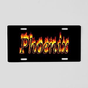 Phoenix Flame Aluminum License Plate