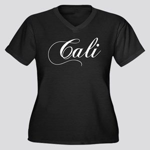 Cali Women's Plus Size V-Neck Dark T-Shirt