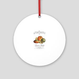 Modern vintage fall gourds and pumpkin Round Ornam