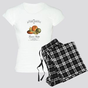 Modern vintage fall gourds and pumpkin Pajamas